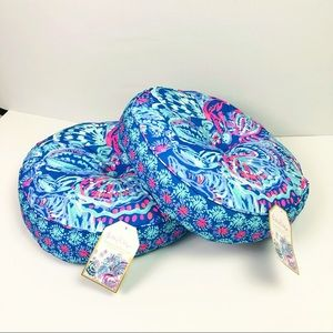 2 Lilly Pulitzer Round Indoor/Outdoor Pillows